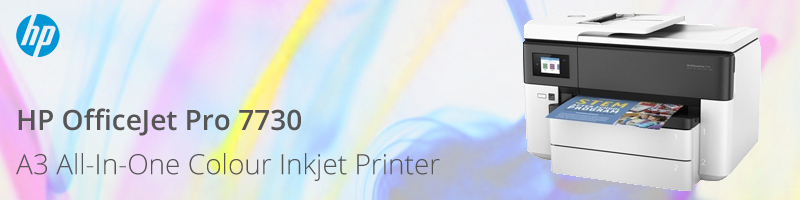 HP OfficeJet Pro 7730 A3 All-In-One Colour Inkjet Printer