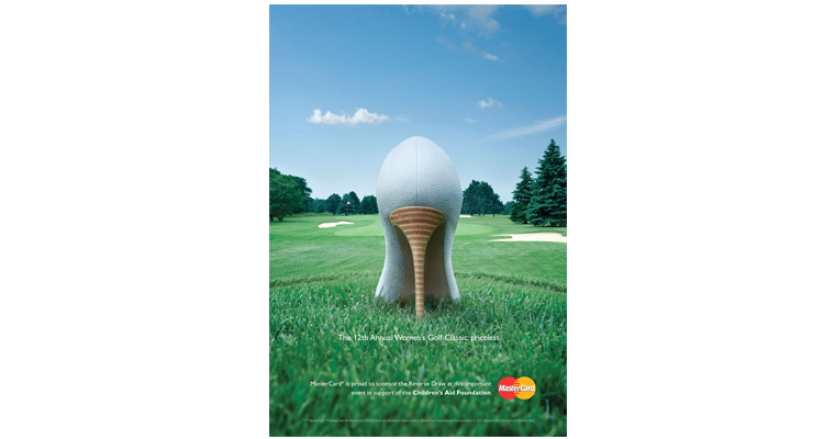 Mastercard womens golf open advert