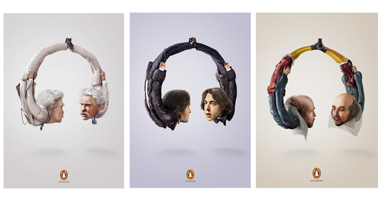 penguin books audiobooks ad campaign